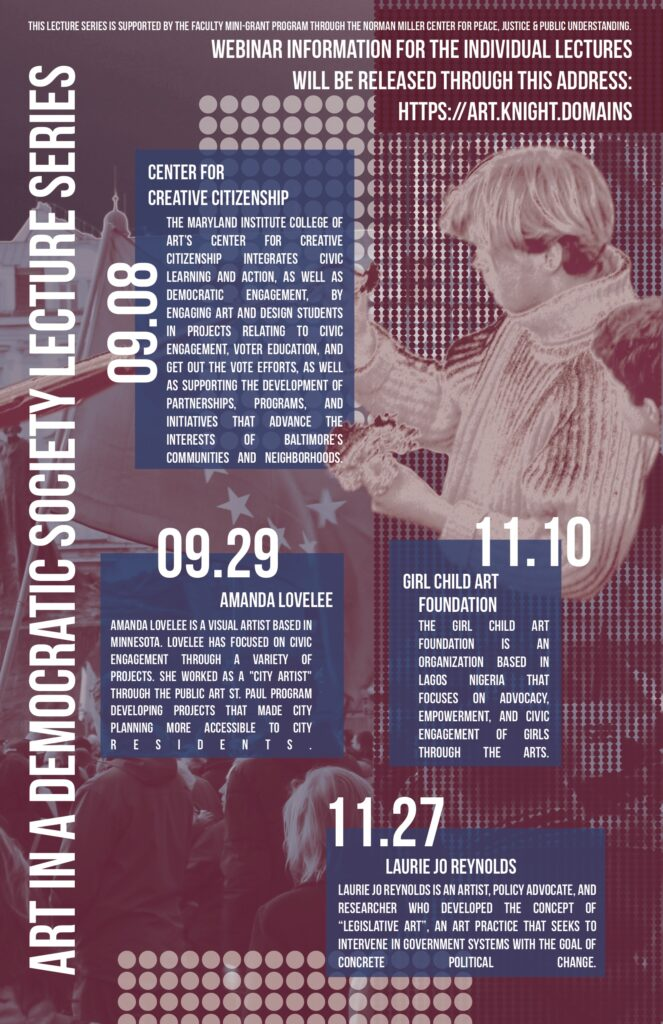 Art in a Democratic Society Lecture Series